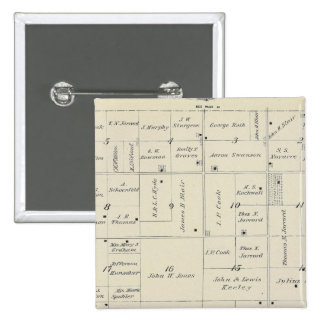 T20S R26E Tulare County Section Map 15 Cm Square Badge