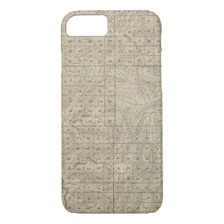 T2124S R3235E Tulare County Section Map iPhone 8/7 Case