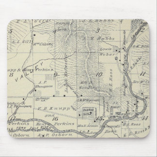 T21S R29E Tulare County Section Map Mouse Mat