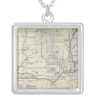 T21S R29E Tulare County Section Map Silver Plated Necklace