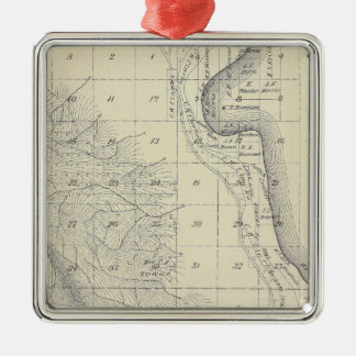 T2223S R1819E Tulare County Section Map Christmas Ornament