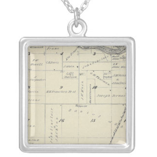 T22S R27E Tulare County Section Map Silver Plated Necklace