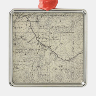 T22S R29E Tulare County Section Map Silver-Colored Square Decoration