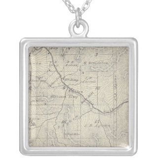 T22S R29E Tulare County Section Map Silver Plated Necklace