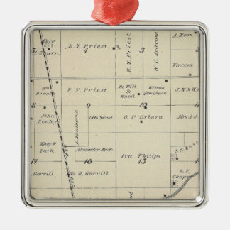 T23S R25E Tulare County Section Map Christmas Ornament