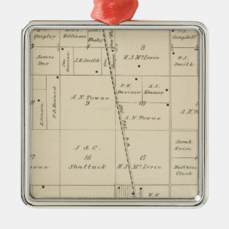 T24S R25E Tulare County Section Map Silver-Colored Square Decoration
