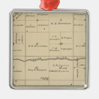 T24S R26E Tulare County Section Map Christmas Ornament