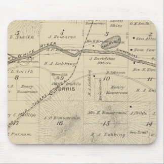T24S R27E Tulare County Section Map Mouse Mat