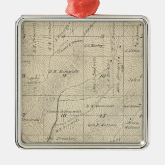 T24S R29E Tulare County Section Map Christmas Ornament