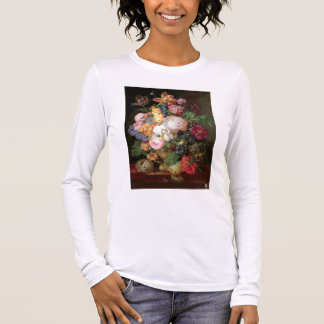 T30763 A Still Life of Flowers and Fruit (panel) Long Sleeve T-Shirt