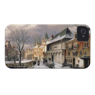 T31117 A View of a Dutch Town in Winter iPhone 4 Case-Mate Cases