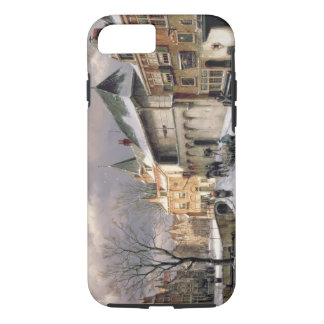 T31117 A View of a Dutch Town in Winter iPhone 8/7 Case