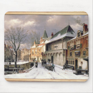 T31117 A View of a Dutch Town in Winter Mouse Mat