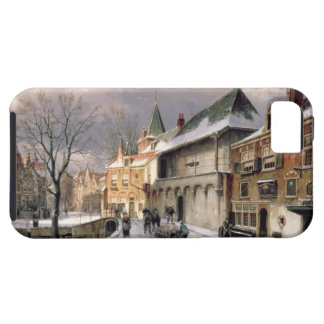 T31117 A View of a Dutch Town in Winter Tough iPhone 5 Case