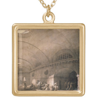 T31459 A Prison Scene, 1794 (pen & ink, wash, chal Gold Plated Necklace
