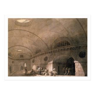 T31459 A Prison Scene, 1794 (pen & ink, wash, chal Postcard