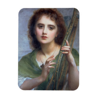T31601 A Lady with Lyre (panel) Rectangular Photo Magnet