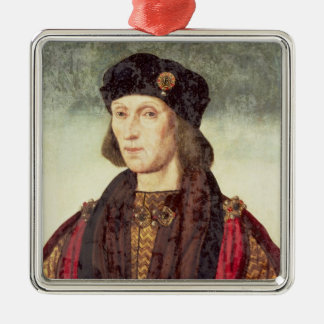 T31778 Portrait of Henry VII (1457-1509) Silver-Colored Square Decoration