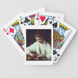 T31971 A Young Boy Peeling an Apple Bicycle Playing Cards