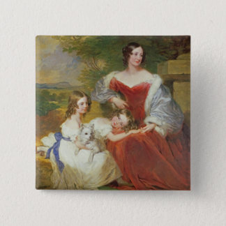 T32011 Portrait of Mrs Sarah Frances Cooper and he 15 Cm Square Badge