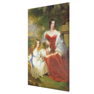 T32011 Portrait of Mrs Sarah Frances Cooper and he Canvas Print