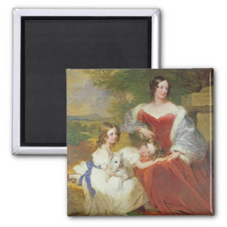 T32011 Portrait of Mrs Sarah Frances Cooper and he Square Magnet
