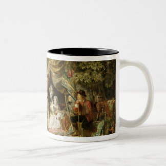 T32191 Highgate Fields During the Great Fire of Lo Two-Tone Coffee Mug