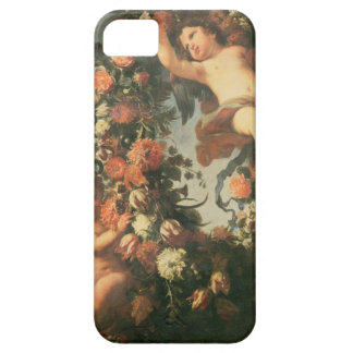 T32714 Two Putti Supporting a Flower Garland iPhone 5 Cover