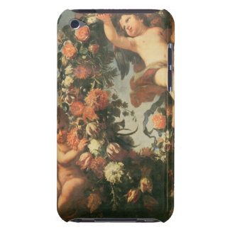 T32714 Two Putti Supporting a Flower Garland iPod Touch Covers
