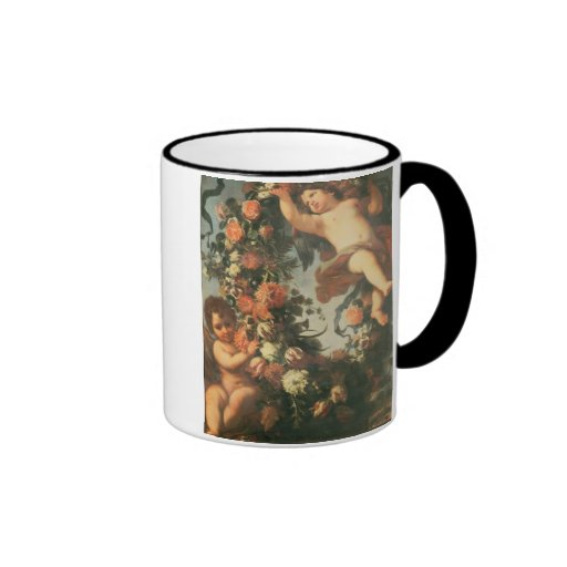 T32714 Two Putti Supporting a Flower Garland Mug