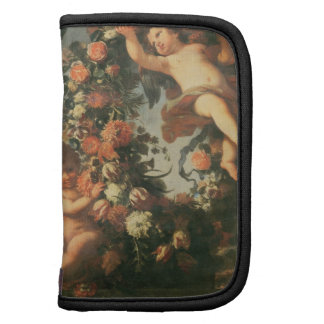 T32714 Two Putti Supporting a Flower Garland Folio Planner