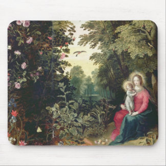 T32789 The Madonna and Child in a Landscape (panel Mouse Mat