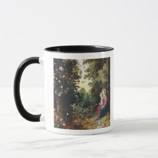 T32789 The Madonna and Child in a Landscape (panel Mug