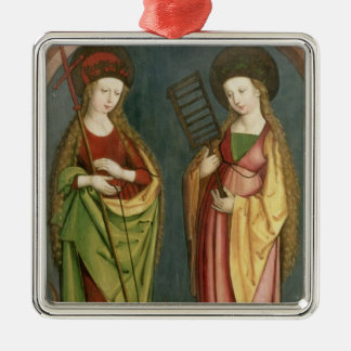 T32982 St. Margaret of Antioch and St. Faith, c.15 Christmas Ornament