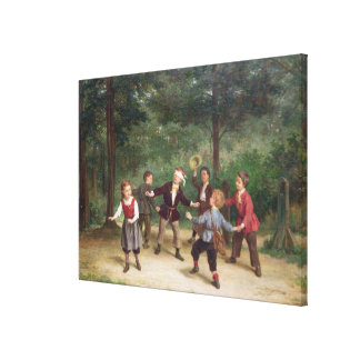 T33268 Blind Man's Buff 91316me; children; playing Canvas Print