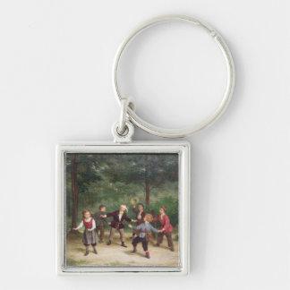 T33268 Blind Man's Buff 91316me; children; playing Key Ring