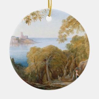 T33412 Landscape with View of Lerici, 1880 Christmas Ornament