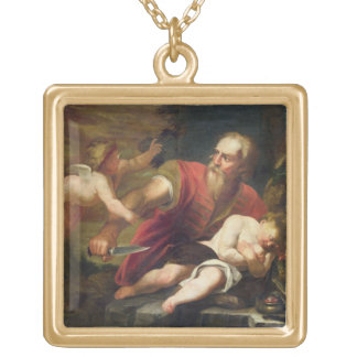 T33486 The Sacrifice of Isaac Gold Plated Necklace
