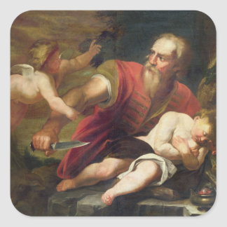 T33486 The Sacrifice of Isaac Square Stickers