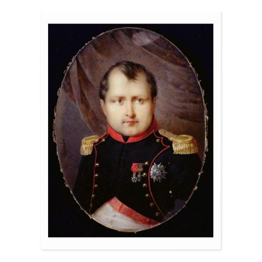 T34002 Portrait Miniature of Napoleon I (1769-1821 Postcard
