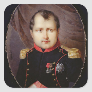 T34002 Portrait Miniature of Napoleon I (1769-1821 Square Sticker