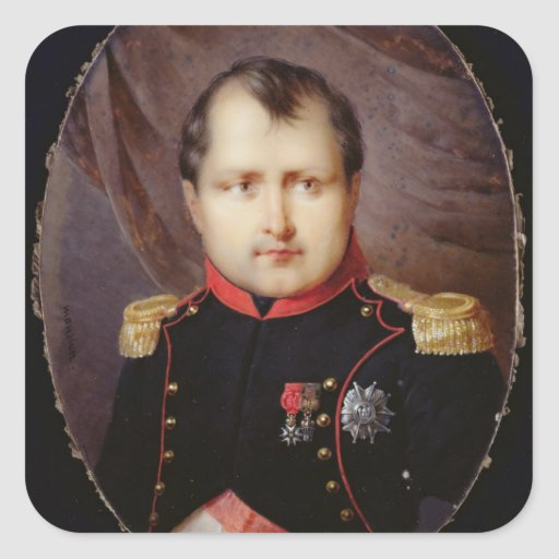 T34002 Portrait Miniature of Napoleon I (1769-1821 Square Sticker