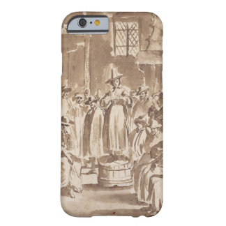 T34029 A Quaker Prayer Meeting (pen & ink on paper Barely There iPhone 6 Case