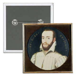 T34055 Portrait of a Bearded Gentleman, Aged 26, 1 15 Cm Square Badge