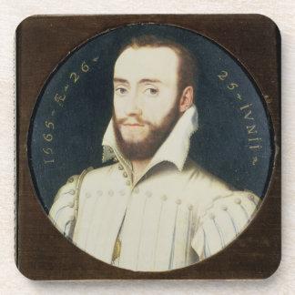 T34055 Portrait of a Bearded Gentleman, Aged 26, 1 Drink Coaster