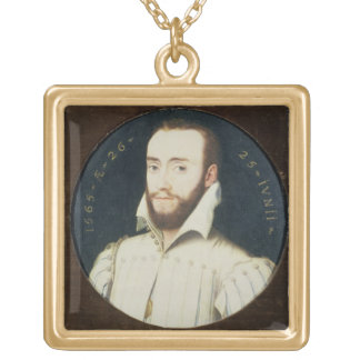 T34055 Portrait of a Bearded Gentleman, Aged 26, 1 Gold Plated Necklace