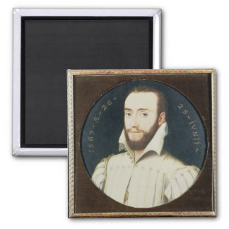 T34055 Portrait of a Bearded Gentleman, Aged 26, 1 Square Magnet