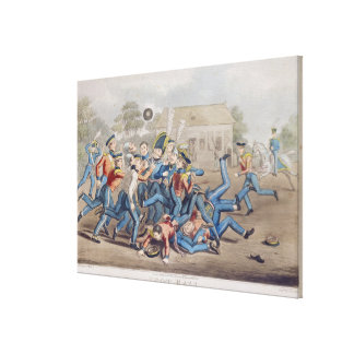 T34890 Football, engraved by George Hunt, 1827 (aq Canvas Print