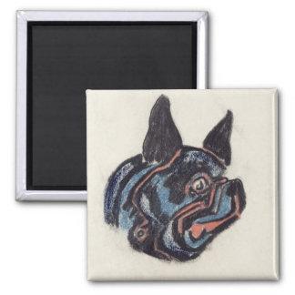 T35228 Dog (pastel on paper) Magnet