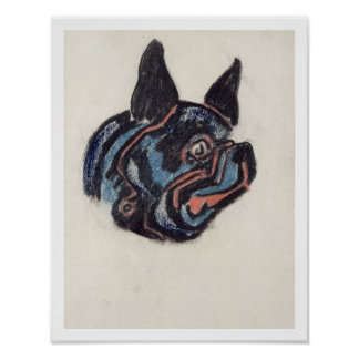 T35228 Dog (pastel on paper) Poster